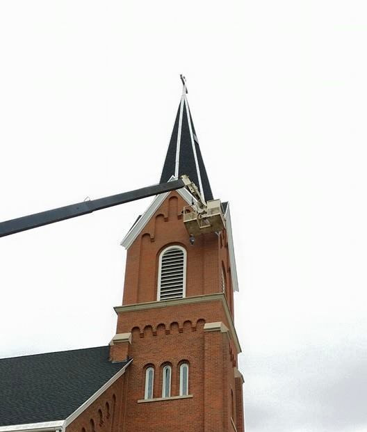 CRNAC Wildlife and Pest Management Bat Removal Evansville Indiana Professionally serviced this beautiful church for Bats. Always going to new heights to help our clients resolve nuisance wildlife issues photo.